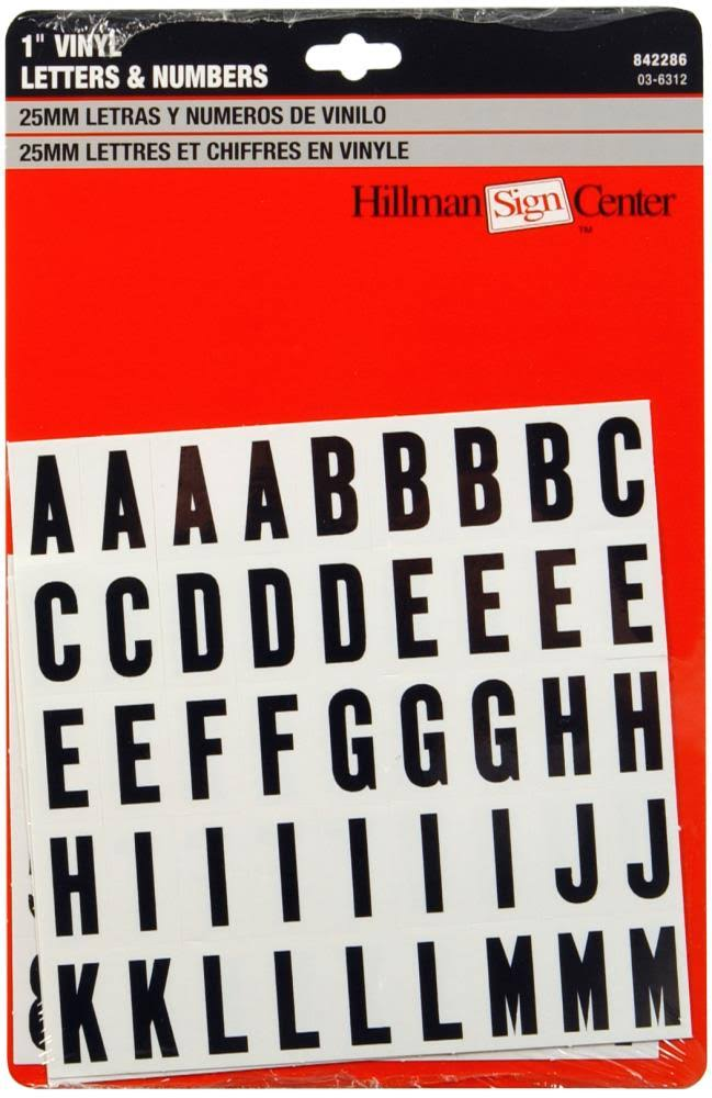 The Hillman Group Die-Cut Letters and Numbers Kit - Black, 1""