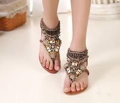 Shoes Boho Bohemian Flats Sandals Tumblr Summer Internet Grunge Vintage Hipster Vogue