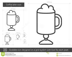 Download Coffee Latte Line Icon Stock Vector Illustration Of Design