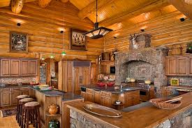 how to smartly organize your log cabin kitchen designs log cabin