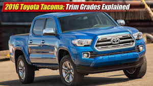 100 Truck Trim 2016 Toyota Tacoma Grades Explained YouTube