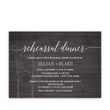 Rustic Barn Wood Winter Wedding Rehearsal Invite