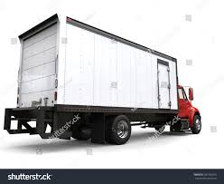 Red Refrigerator Truck Back View 3 D Stock Illustration 781310293 ...