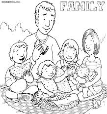 Family Coloring Pages Within Page