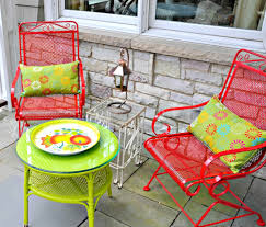 Metal Patio Chair And Table : Outdoor Decorations - How To ...