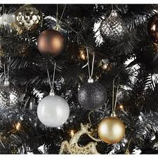 6ft Christmas Tree With Decorations by Ready To Dress Luxe Black Christmas Tree 6ft Christmas Trees