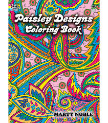 Adult Coloring Book Dover Publications Paisley Designs