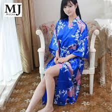 robe de chambre en grande taille longue robes femmes robe robe de chambre en soie