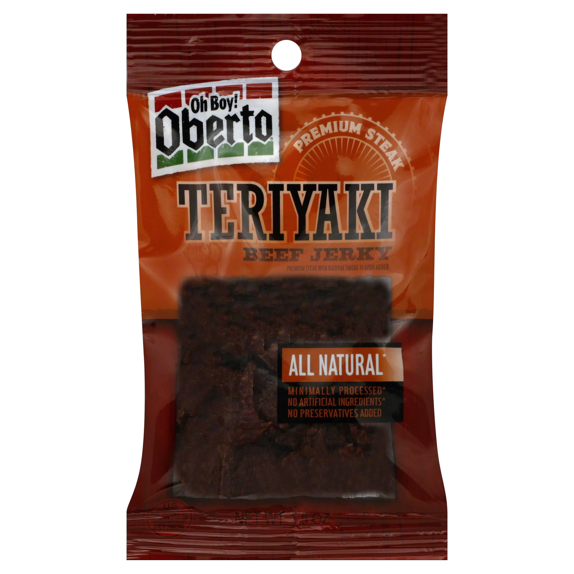 Oberto All Natural Beef Jerky - Teriyaki