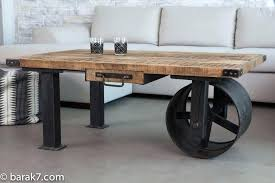 Grey Reclaimed Wood Coffee Table Tables Furniture Enjoyable Round Low Profile