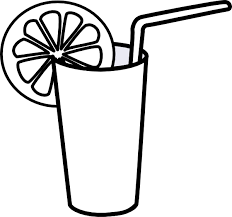 Milk and water clipart black and white