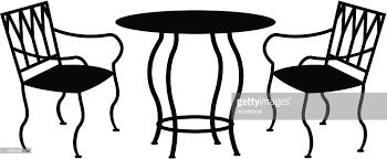 Wrought Iron Patio Furniture Vector Art