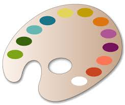 Description Paint Palette Pattern Use The Printable Outline