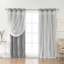 Thermal Curtain Liner Grommet by Layla Lace Overlay Thermal Blackout Energy Efficient Grommet