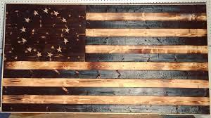 DIY Wood Burned American Flag