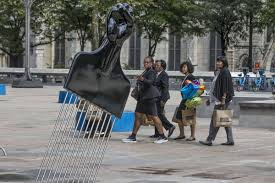 Philadelphia Mural Arts Internship by Mural Arts Adds An Afro Pick Sculpture To The Plaza With Rizzo U0027s