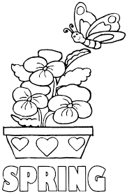 Download Coloring Pages Spring Free Printable For Kindergarten Fun Color