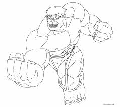 Hulk Smash Coloring Pages