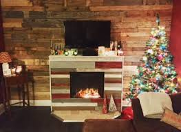 Pallet Living Room Wall Fireplace Surround Decor PaintingPallet Walls