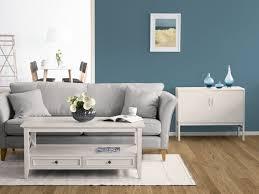 blau als wandfarbe im kolorat zimmer kombiniert mit