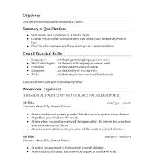 Good Objective For Cv Resume Examples Unique Example Resumes Inside Professional