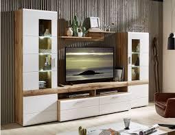 le mans wohnwand montiert aufgebaut anbauwand wohnzimmer weiß eiche altholz