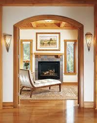 Timber Frame Home Hallway Lighting