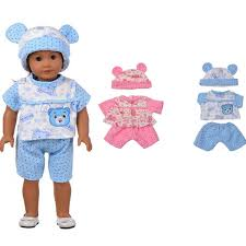 Sleeping Baby Bear Shape Doll Clothes Set For 18 American Girl