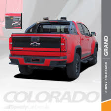 100 Truck Tailgate Decals Chevy Colorado Rear Stickers GRAND TAILGATE Stripe Vinyl