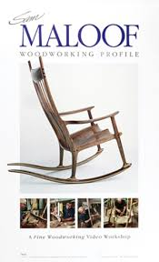 Sam Maloof Rocking Chair Class by Sam Maloof Woodworking Profile Poster