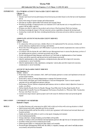 Download Account Manager Client Service Resume Sample As Image File