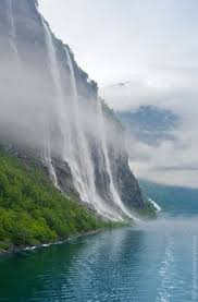 The Seven Sisters Waterfall Geirangerfjord Norway Two Most Notable Waterfalls In Are And Suitor Falls