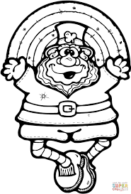Click The Leprechaun Doll With A Rainbow Coloring Pages To View Printable