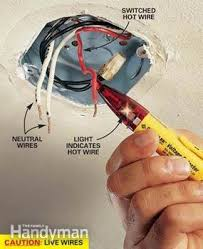 how to hang a ceiling light fixture family handyman