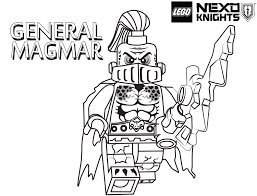 Inspiring Ideas Lego Knights Coloring Pages 11 General Magmar Page Printable Sheet LEGO Nexo