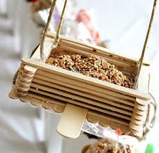 Material That Would Be Needed For Crafts Icecream Sticks Their Number Depends On What Size You Want The Feeder We Have 36 Pieces Glue And Scissors