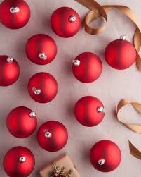 BH Essentials Small Red Matte Ornament Set 12 Pieces By Balsam Hill