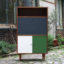 bureau coloré secrétaire tricolore ées 70 bureau amovible vintage design et