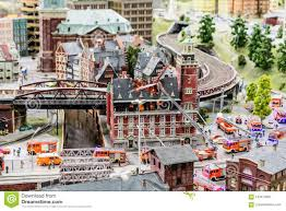 100 Model Fire Trucks Train Set Automated Stock Image Image Of Hamburg