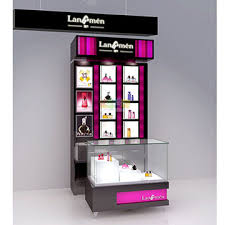 China Cosmetic Display Shelf Make Up Stand For Shop Design