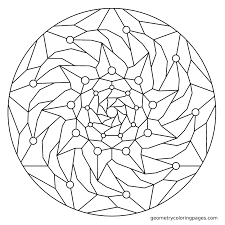 Geometry Coloring Page Fall