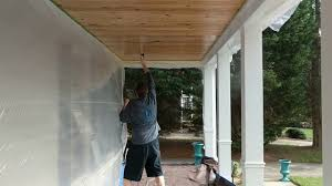 airless paint sprayer for ceilings spraying pine porch ceiling using harbor freight airless paint