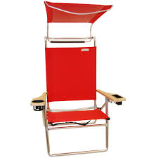 Telescope Beach Chairs With Cup Holder by Canopy Beach Chairs Beach Chair With Shade