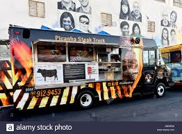 100 Vegas Food Trucks Truck On First Friday Downtown Las Nevada Stock