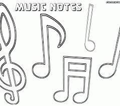 Free Printable Music Notes Coloring Pages Musical Cecilymae Online