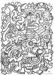 Cool Pattern Coloring Pages Free Page Adult Difficult Art Picture