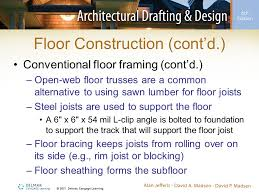 Floor Joist Bracing Support by Chapter 28 Structural Components Of Framed Construction Ppt