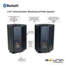 Amazon Bluetooth 5 25 Indoor Outdoor Weatherproof Patio Speakers Black pair Home Audio & Theater