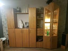 echtholz wohnzimmer schrank wohnwand schrankwand