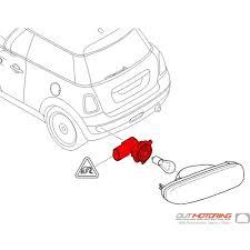 63247249647 mini cooper replacement bulb socket rear fog lights